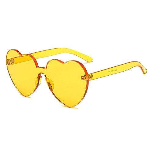 Coeur Couleur UV400 Coeur Intégré UV Soleil De C3 Sunglasse juqilu Bonbons Shades Lunettes q0HFt