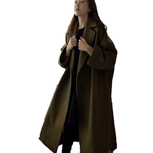 Mchoice Fashion New Women Winter Warm Long Windbreaker Parka Coat (L, Army Green)