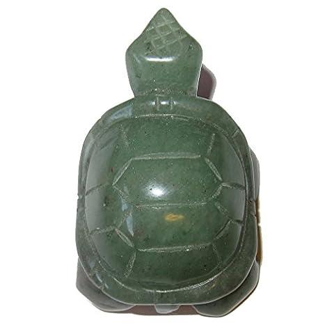 Animal Turtle Aventurine Green 01 Money Prosperity Crystal Totem Spirit Guide Figurine 2