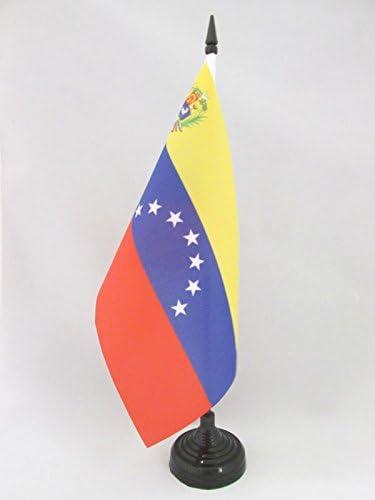 AZ FLAG Bandera de Mesa de Venezuela Antigua con Escudo 21x14cm - BANDERINA de DESPACHO VENEZUELANA con Armas 14 x 21 cm: Amazon.es: Hogar
