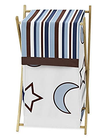 Baby/Kids Clothes Laundry Hamper for Sweet Jojo Designs for Starry Night Stars and Moons Bedding - Juvenile Bedding
