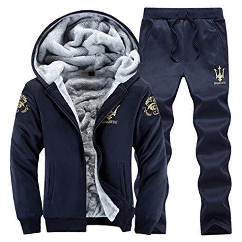 Ghillie Ultralight (Aarring Winter Men Hoodies Suit 2019 Casual Hooded Warm Sweatshirts Male Thicken Tracksuit Jacket+Pant Men Moleton Masculino,15,XL)