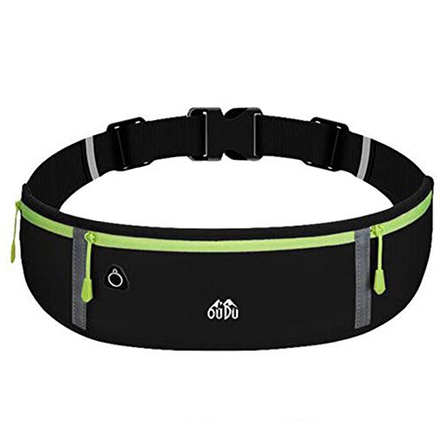 YUKING Sport Waist Pack Belt Bag Fanny Pack for Women and Men Slim Water-Resistant Adjustable Belt Pack Waist Pouch Fitness Workout Belt Pack Exercise Waist Bag in Running Gym Marathon Cycling