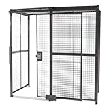 WireCrafters - 10104RW - Welded Wire Partition, 4 sided, Slide Door