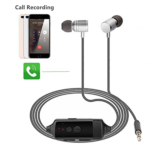 Call Recorder for iPhone and Android/in-Ear Call Recording Earphone