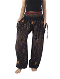 Lannaclothesdesign Boho Harem Pants Plus Sizes S M L XL XXL