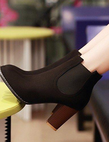 Schuhe Faux Schuhe Heels Casual nbsp;Damen Fashion 2015 Damen Chunky Stiefelette Damen Stiefel Citior Outdoor Wildleder Pw6XqZc