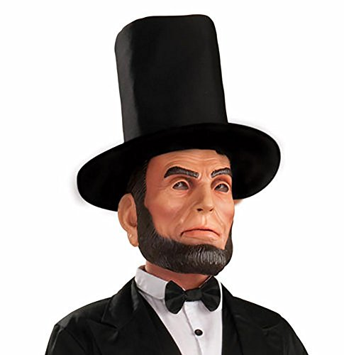 [Abraham Lincoln Mens Halloween Costume Mask] (Princess Anastasia Halloween Costume)