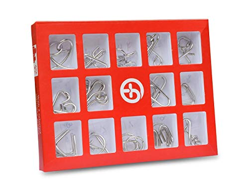 Sensory Activities Stimulation (Metal Wire Puzzles Activity for Dementia Alzheimer's Seniors Elderly Memory Loss Product Keep Hands Busy Game Toys Gifts. (15set))