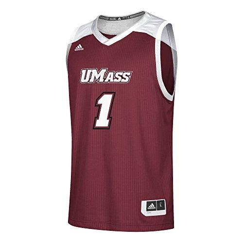 adidas NCAA Massachusetts Minutemen Mens Replica Basketball Jerseyreplica Basketball Jersey, Collegiate Burgundy, Small