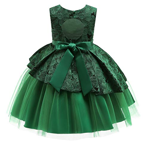 NSSMWTTC Princess Girls Halloween Dresses Costume Teenages Birthday Party Dresses Sequins Christmas Size 9T (Green,150) -