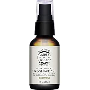 Lather & Wood Shaving Unscented Pre-Shave Oil - 1 oz