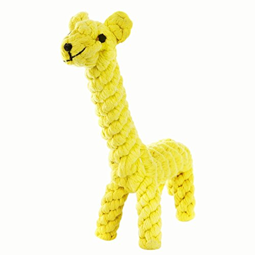Dog chew Toy Cotton Dental Teaser Rope| Giraffe Puppy Chew Toys| Teeth Cleanning Chewing Toy| Dog (Dental Rope Dog Toy)