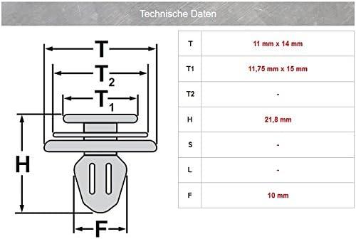 51471840961 15/X listones de umbral Clip de montaje para 3/en blanco