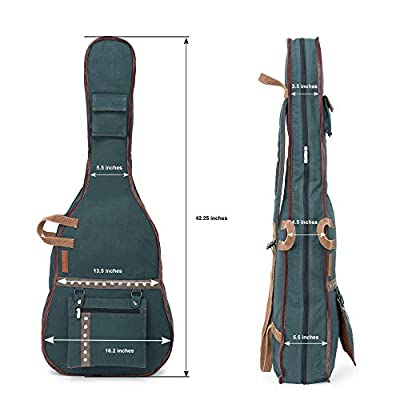 The House of Tara - Combat Blue Canvas Fabric Acoustic Guitar Bag 3