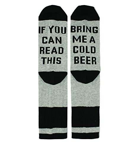 If You Can Read This Novelty Funny Saying Beer Crew Socks, Beer Gift for Women ()