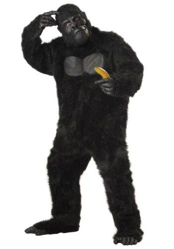 Realistic Plus Size Faux Fur Adult Gorilla -