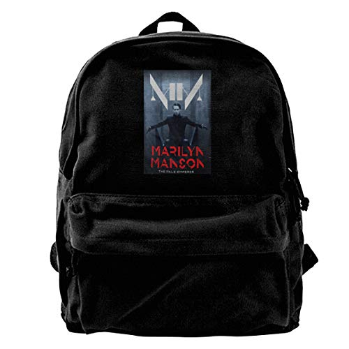 Kwtgsyhrt Marilyn Manson The Pale Emperor Canvas Backpack Daypack Satchel Backpack Women -