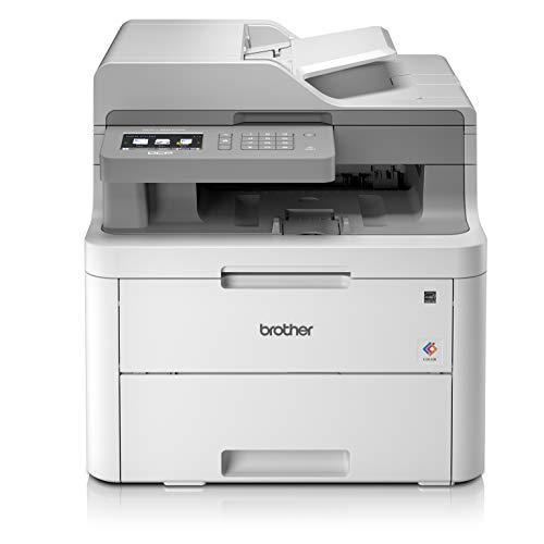 Brother DCP-L3550CDW – Impresora multifunción (Wifi, USB 2.0, 512 MB, 800 MHz, 18 ppm, 400 W) Blanco