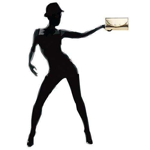 CASPAR TA360 elegante Damen Envelope Clutch Tasche/Abendtasche mit langer Kette Gold