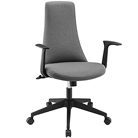 Modway Fount Mid Back Office Chair, Gray - Fount Base