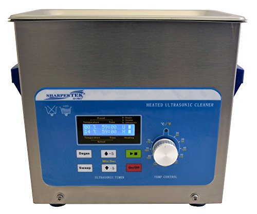 SharperTek XPS120-3L Heated Ultrasonic Cleaner, 3/4 gal T...