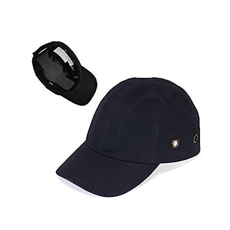 Gorra negra de béisbol, gorra ligera de seguridad rígida para protección de la cabeza: Amazon.es: Oficina y papelería