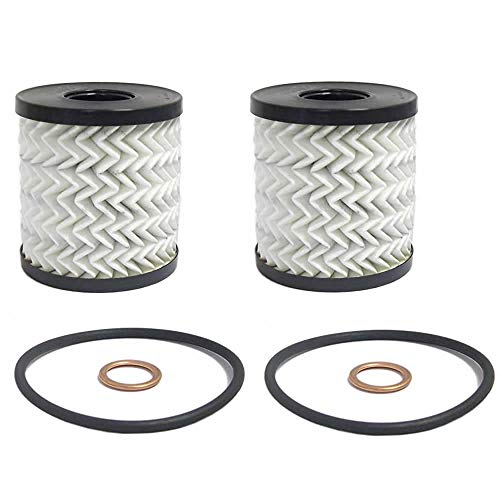 MINI Cooper and Cooper S OEM Oil Filters 2-pak Kit for Clubman R55, Hatchback R56, Convertible R57, Coupe R58, Roadster R59, Countryman R60, Paceman R61