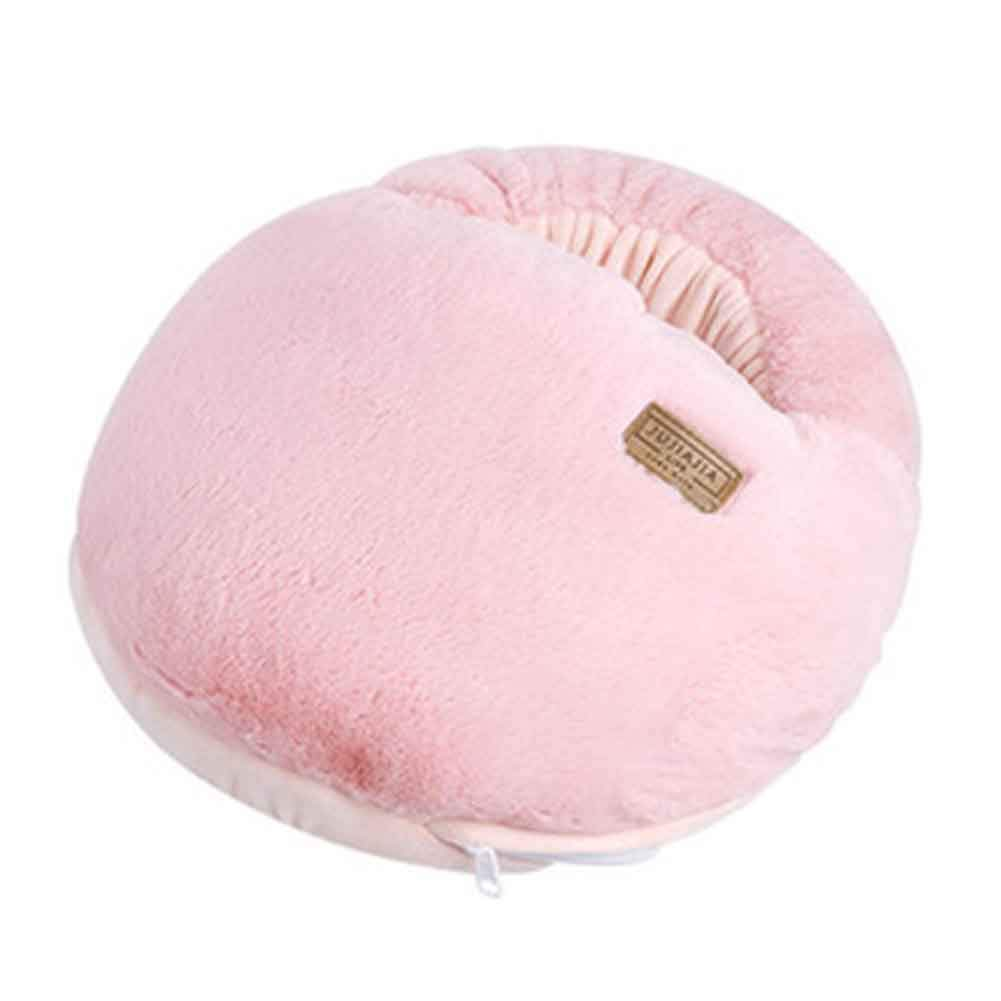 Multi-use Washable Winter Plush Slipper USB Charging Heating Foot Warmer For Home and Office #Pink Macaron PANDA SUPERSTORE