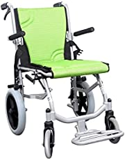 Wheelchair Light Weight Wheelchair Lightweight Wheelchair, Aluminium Folding Attendant Propelled Wheelchair with Handbrakes Weighs Only 9.3kg