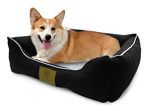 American Kennel Club Self-Heating Solid Pet Bed Size 22x18x8' , Black