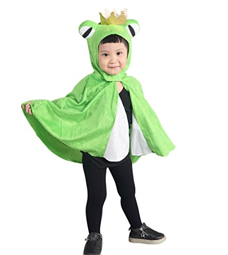 Homemade Kids Frog Costumes (Fantasy World AN80 Halloween Frog King Cape-Costume for children 2T)