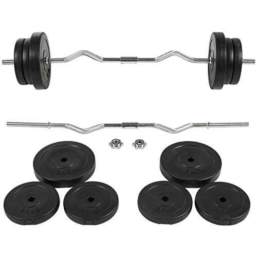 Best Choice Products Barbell Dumbbell EZ Curl Bar Weight Set Gym Lifting Exercise Workout