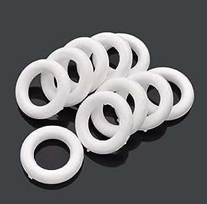 Smooth Foam Wreath Ring White Diameter pack of 10pcs (4.8cm/10pcs)