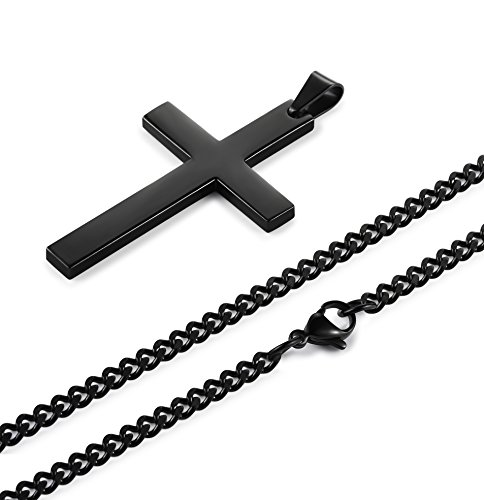 black link men mm chain s at curb necklace rhodium mens plated