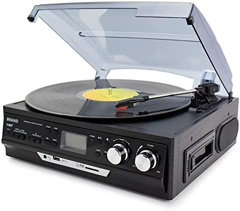 3-Speed Vinyl LP Record Players Turntable Player Built-in Sp