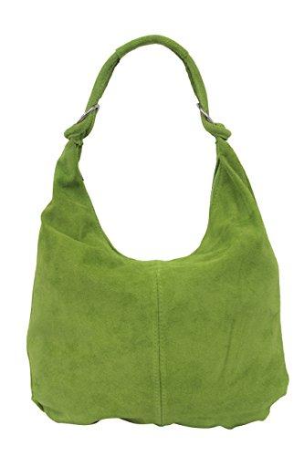 velours à Sac dames daim Bag fourre Sac main à en pour cuir seau tout bandoulière Grand WL822 Sac pomme Sac verte Hobo cuir en qRYxFqX