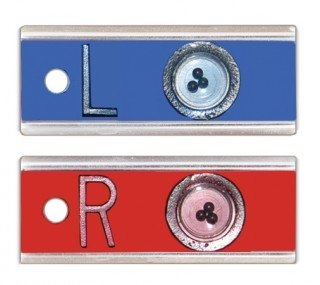 X-Ray Markers, Elite Style - Positioning Beads, No Initials, SET, L&R 5/8'', Horizontal