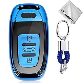Azul Funda para Llave Smart Key para Coche 3 Button Audi A4 ...