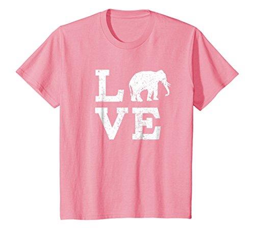 Kids I Love Elephants T-Shirt Funny 12 Pink by I Love Animals Shirt