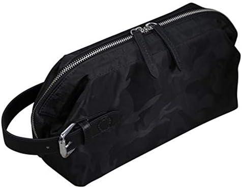 化粧ポーチ カジュアルスモールバッグタイドブランドのメンズハンドバッグキャンバスウォッシュバッグコスメティックバッグクラッチバッグ ウォッシュバッグ (色 : A, Size : 26x16x11cm)