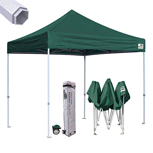 (Eurmax Premium 10'x10' Ez Pop-up Canopy Tent Commercial Instant Shelter with Heavy Duty Wheeled Carry Bag (Forest Green))