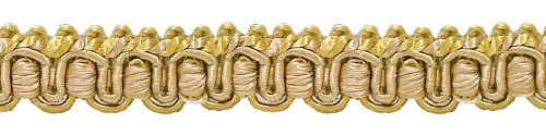 Sold by The Yard Antique gold 1//2 Imperial II/Gimp Braid Style# 0050IG Color RUSTIC GOLD 4975