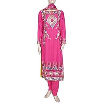 Shabnam Pink Casual Kameez & Salwar Set For Women