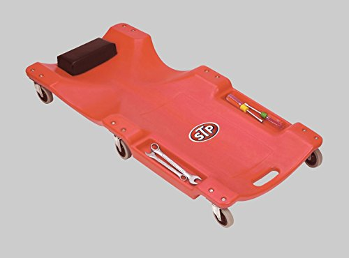 New Red Auto Repair Mechanic Rolling Creeper with STP Themed Logo! (Low Profile Furniture Rollers compare prices)