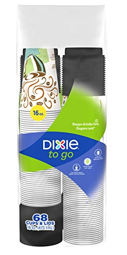 Dixie PerfecTouch Grab 'N Go 16 Oz Hot Cups with Lids - 68 Count Dixie Perfect Touch Hot Cup