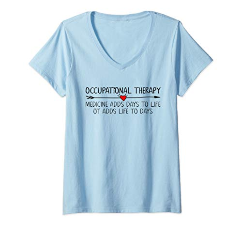 Womens Occupational Therapy Therapist Assistant Heart Women Girls  V-Neck -