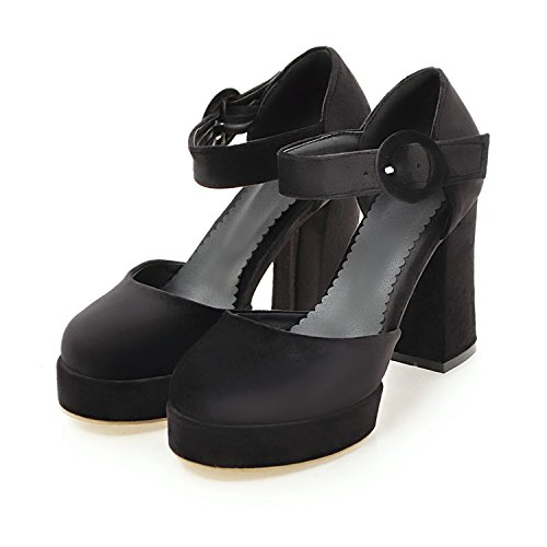 s Comfy Platform D'Orsay Ankle Strap Chunky High Heels Mary Janes Pumps Size 9 (B) M US ()
