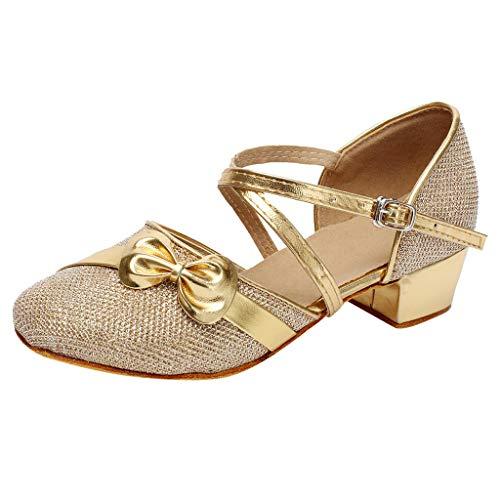 SMALLE ◕‿◕ Girls Dress Shoes, 2019 Kids Girls Princess Tango Latin Dance Shoes Dress Shoes Sandals Gold