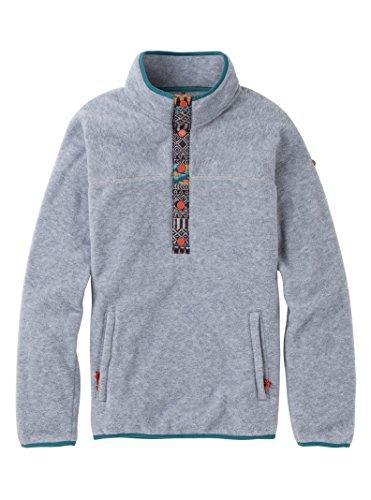 Burton Women's Hearth Fleece Pullover, Gray Heather, Medium -